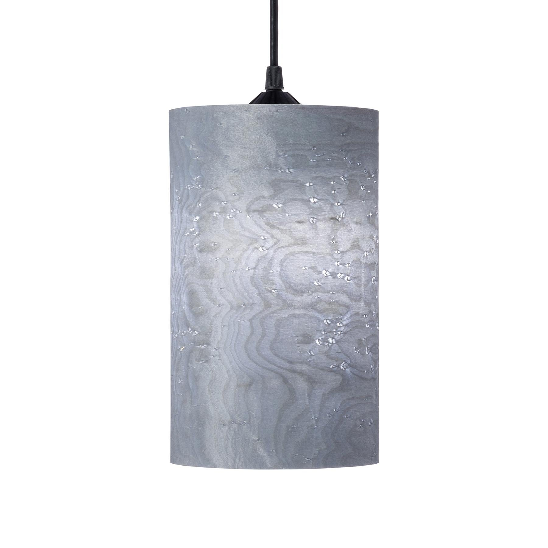 "CENTA 6x9"" Gray Birds Eye Maple Wood Cylinder Pendant"