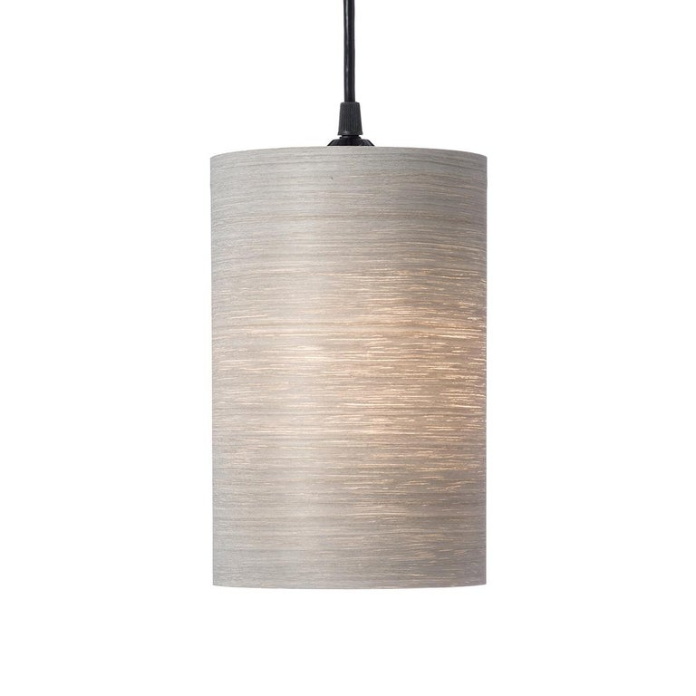 Centa Custom Gray Tay Wood Cylinder Pendant For Sale