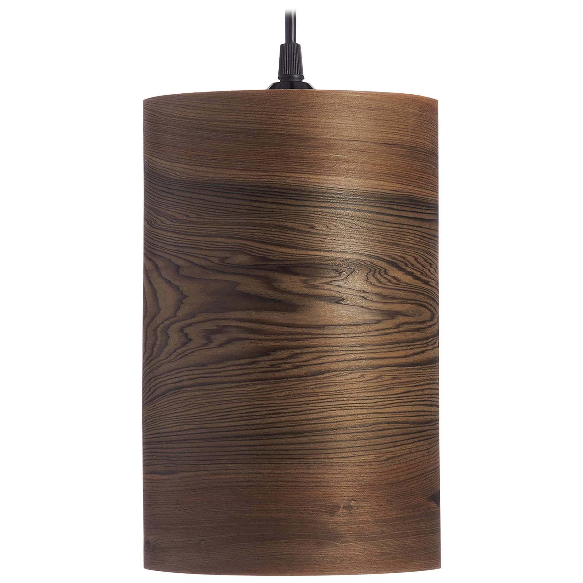 Organic Modern Bogwood Cylinder Pendant