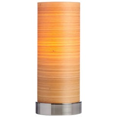 Mid-Century Modern wood veneer accent light