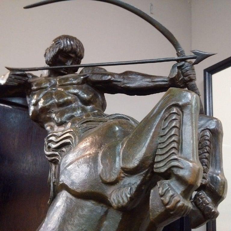 'Centaur' Art Deco Bronze by Francois Bazin, 1924 For Sale 4