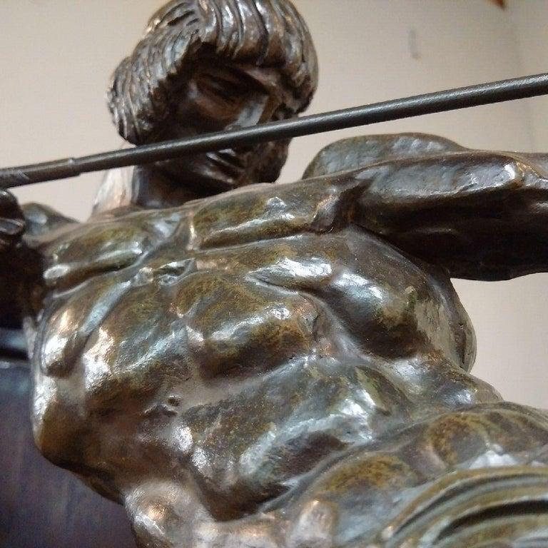 Patinated 'Centaur' Art Deco Bronze by Francois Bazin, 1924 For Sale