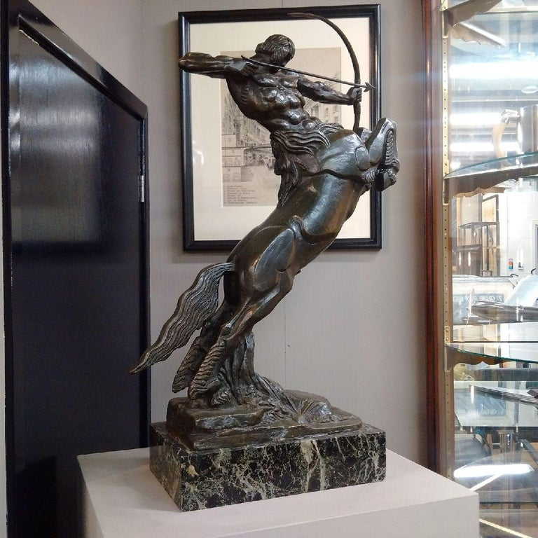 'Centaur' Art Deco Bronze by Francois Bazin, 1924 In Good Condition For Sale In London, GB