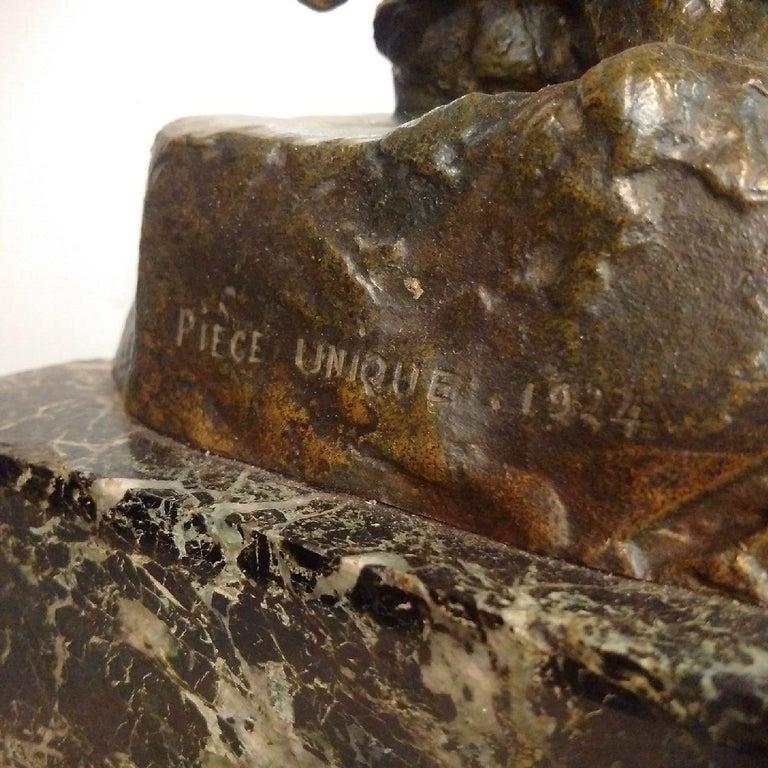 20th Century 'Centaur' Art Deco Bronze by Francois Bazin, 1924 For Sale