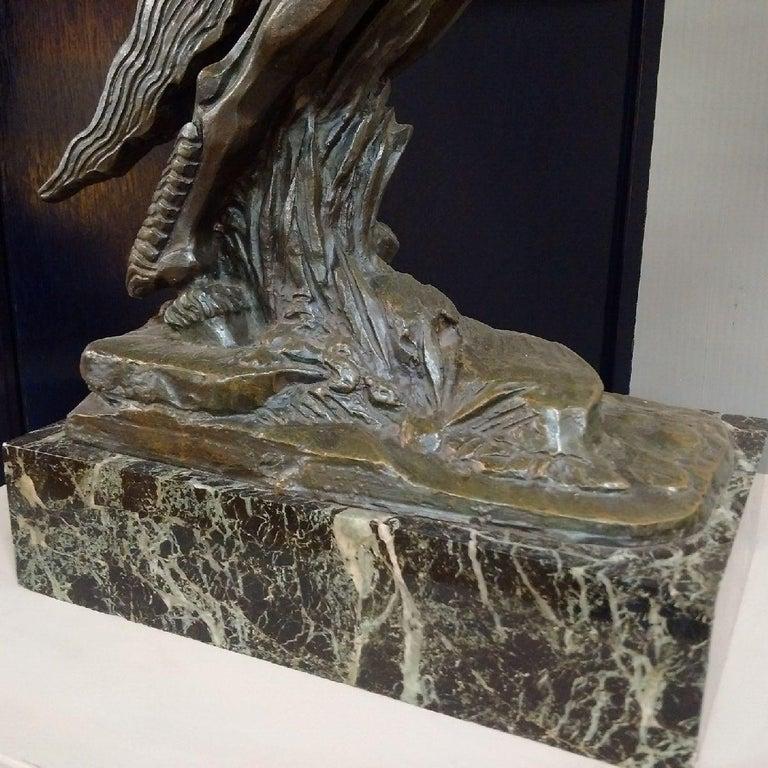 'Centaur' Art Deco Bronze by Francois Bazin, 1924 For Sale 1