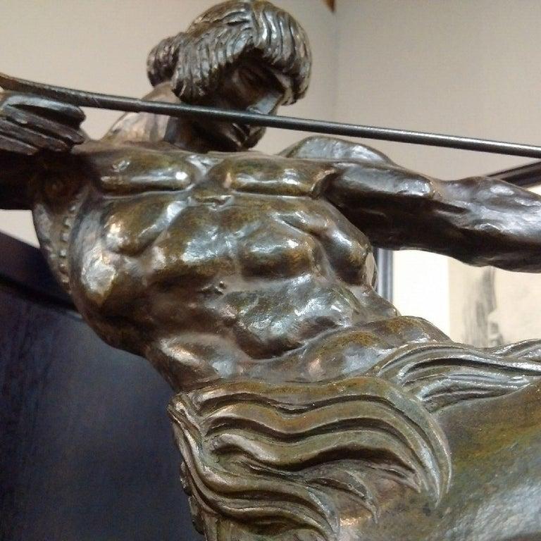 'Centaur' Art Deco Bronze by Francois Bazin, 1924 For Sale 3