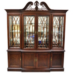 Centennial Collection Bernhardt Mahogany Chippendale Breakfront China Cabinet