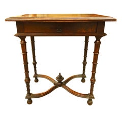Center Drawer Side Table, France, 19th Century
