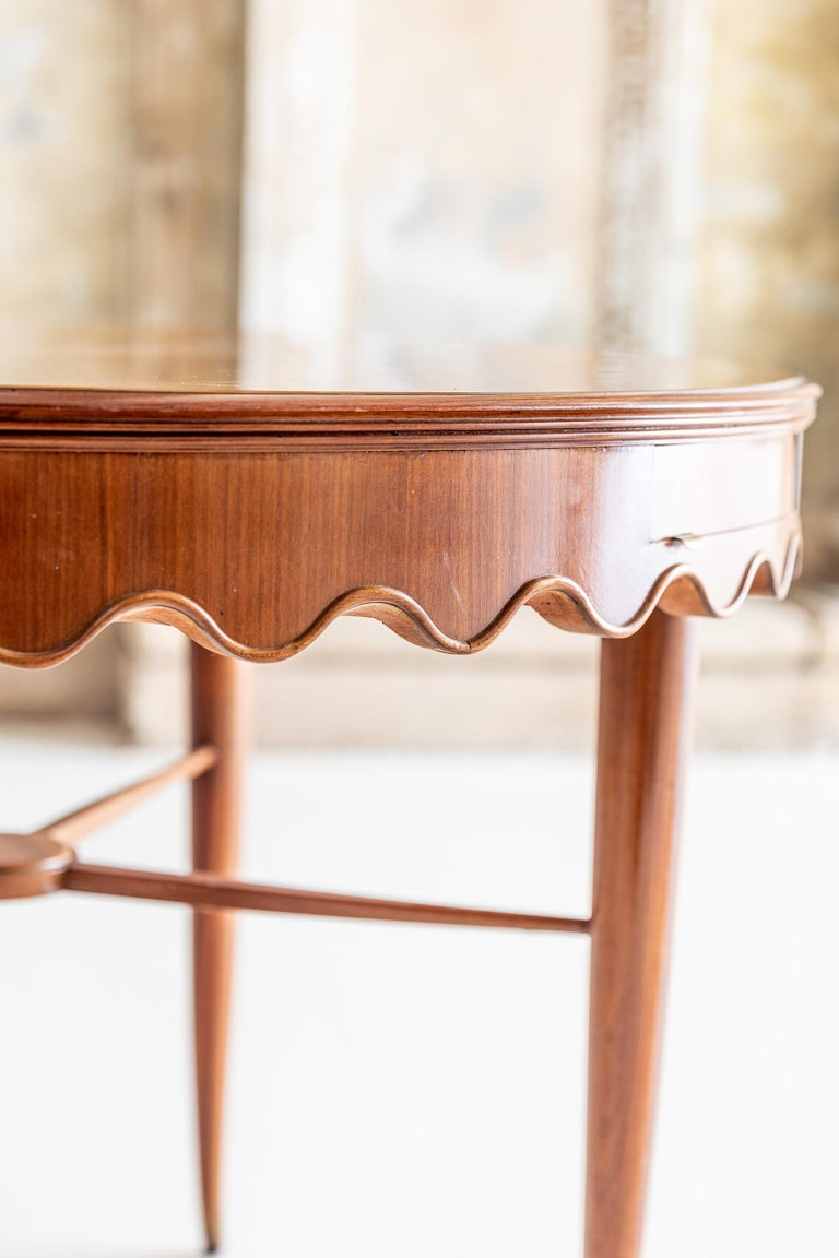 Mid-20th Century Center Table Attributed to Osvaldo Borsani For Sale