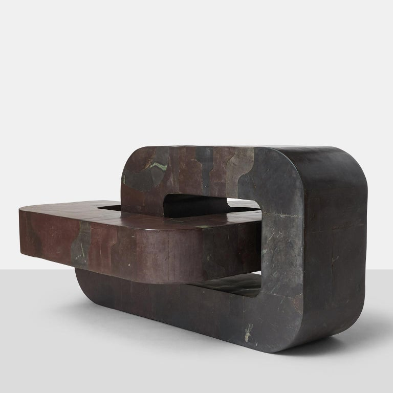 Sculptural coffee table by Pierre-Elie Gardette