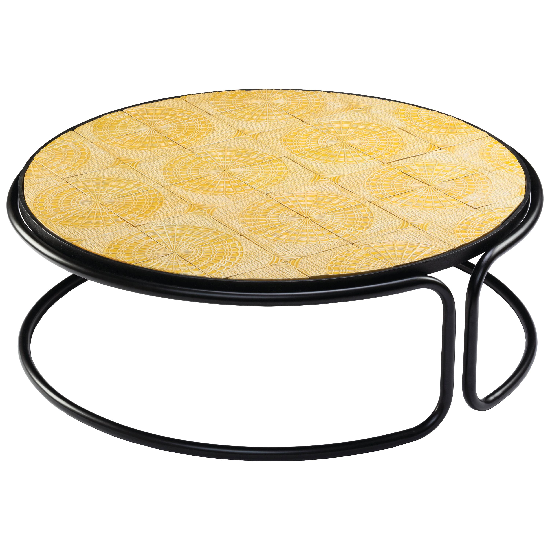Center Table Caldas Tubular with Portuguese Tiles