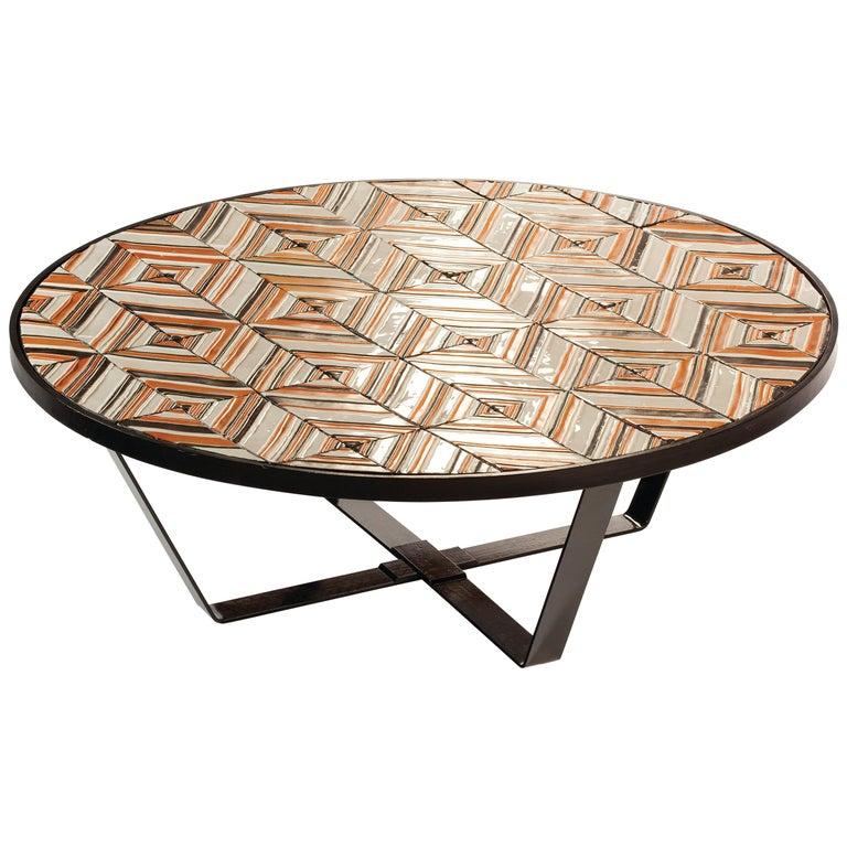 Center Table Caldas with Portuguese Tiles 1