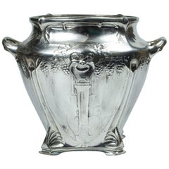Winecooler Art nouveau Frances silver plate Champagne ice bucket barwere vitage