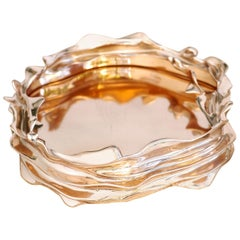 Centerpiece Bowl in Polished Bronze by FAKASAKA Design