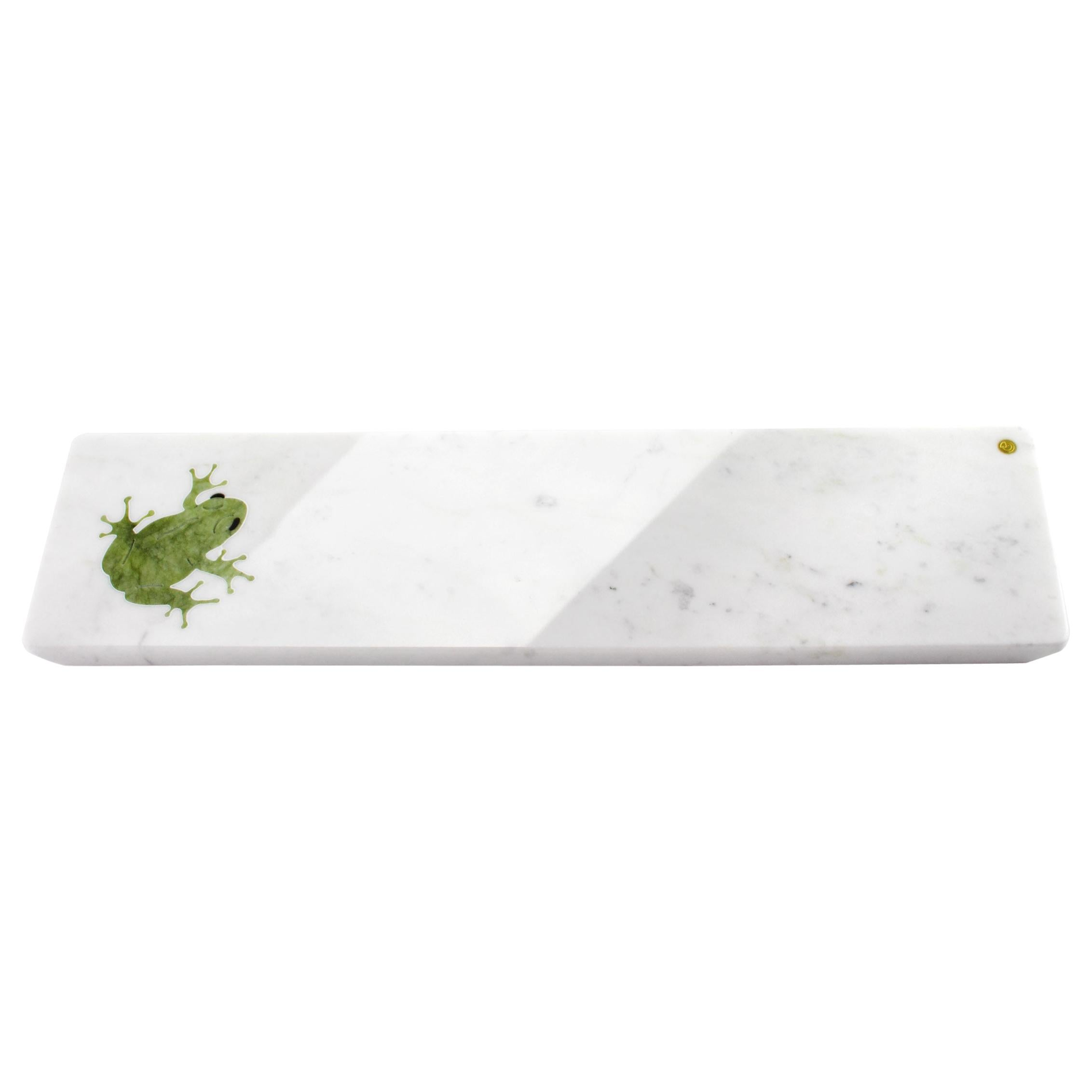 Centerpiece, Serving Plate in Carrara Marble and Ming Marble by Pieruga Marble