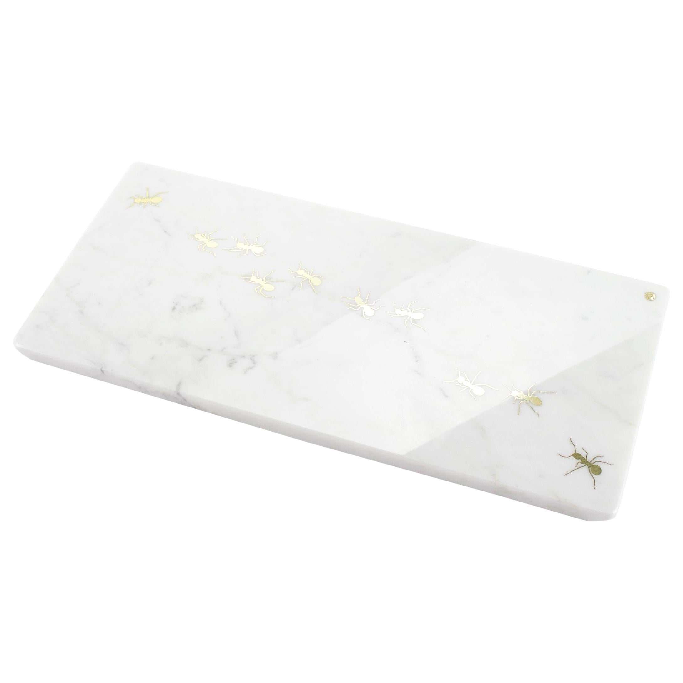 Centerpiece, Serving Plate in Carrara Marble Made in Italy by Pieruga Marble