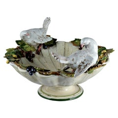 Centerpiece with Doves and Grapes by Ceccarelli