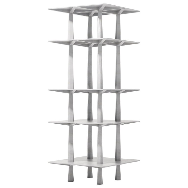 Centina Shelf in Aluminum by Oeuffice For Sale