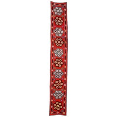 Central Asian Suzani Textile. Embroidered Cotton & Silk Wall Hanging