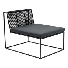 Central Black Armchair by Peter Ivone