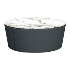 Central Coffee Table with Storage by Fabio Arcaini Marble Geometric Titanium