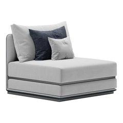Central Element Geometric Modular Sofa by Fabio Arcaini Settee Velvet