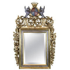 Central European Carved Gilt Mirror