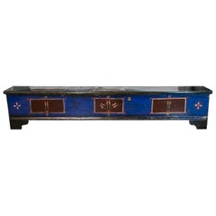 Central European Long Painted Blanket Chest