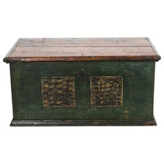 Central European Painted Blanket Chest