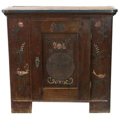 Central European Painted Cupboard