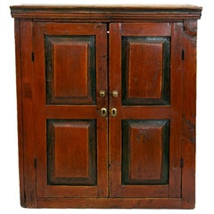 Central European Painted Wall Cupboard