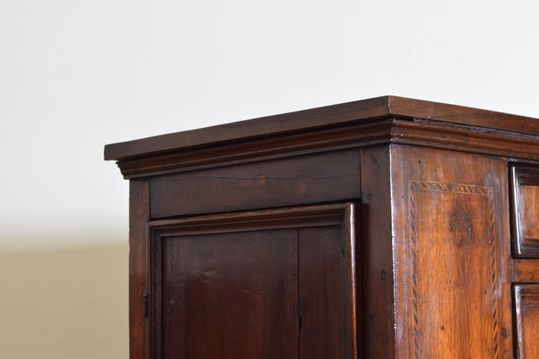 Central Italian Walnut and Inlaid Credenza, Early 19th Century For Sale 6