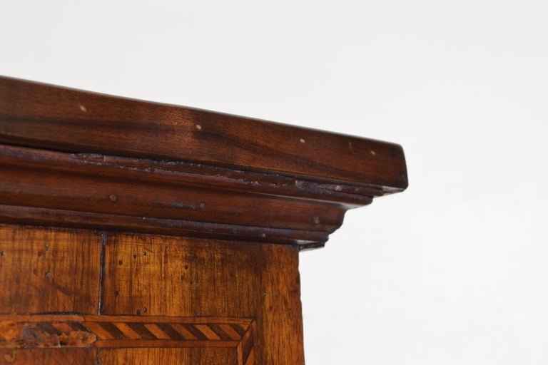Central Italian Walnut and Inlaid Credenza, Early 19th Century For Sale 7