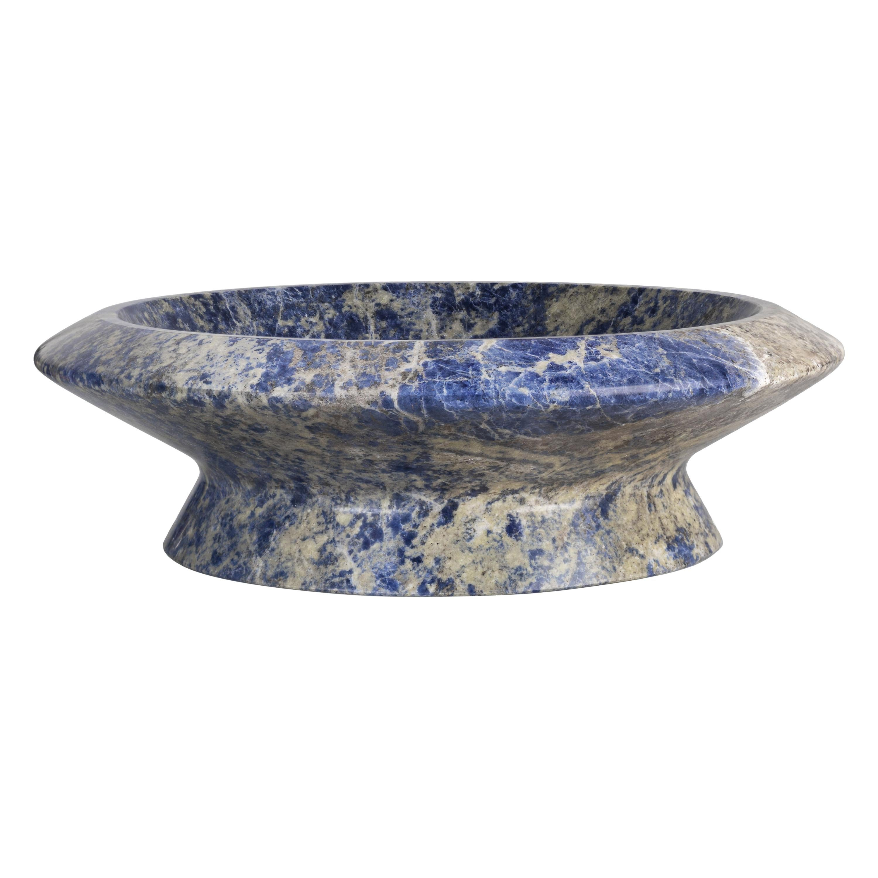Centrepiece in Blue Sodalite Marble, by Ivan Colominas, Italy