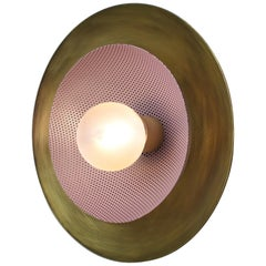 Centric Wall Sconce in Solid Brass & Purple Enamel Mesh Blueprint Lighting, 2019