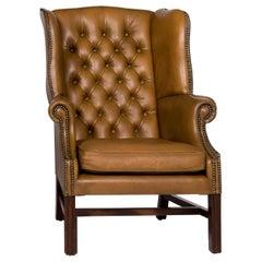Centurion Leather Armchair Brown Chesterfield Retro