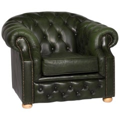 Centurion Leather Armchair Chesterfield Green