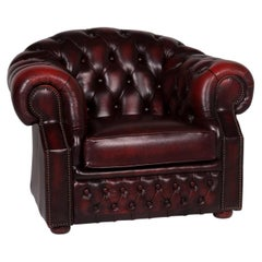 Centurion Leather Armchair Red