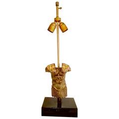 Centurion Torso Bronze Lamp by Monique Gerber, France, 1970s