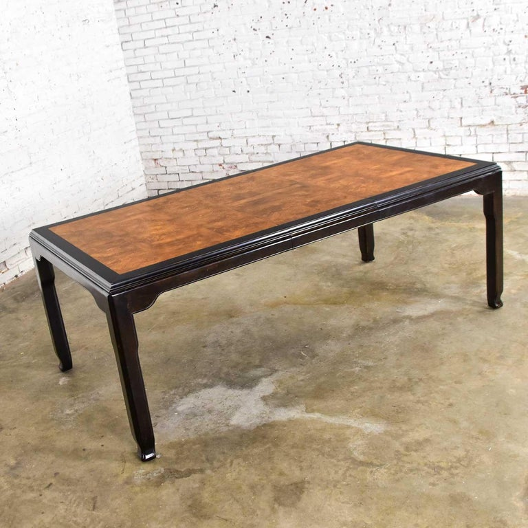 Century Chinoiserie Hollywood Regency Chin Hua Dining Table by Raymond K. Sobota For Sale 4