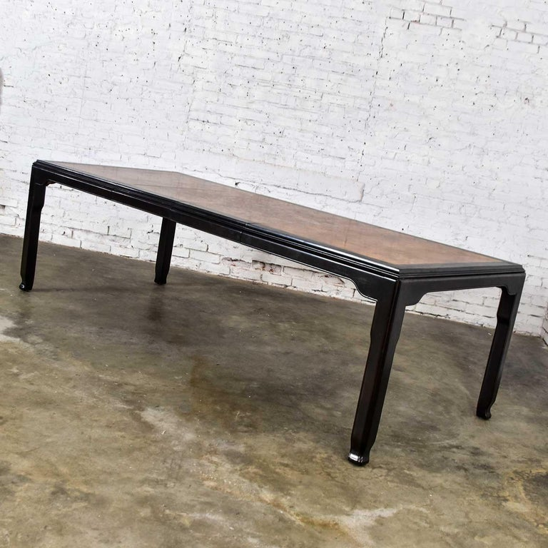 20th Century Century Chinoiserie Hollywood Regency Chin Hua Dining Table by Raymond K. Sobota For Sale