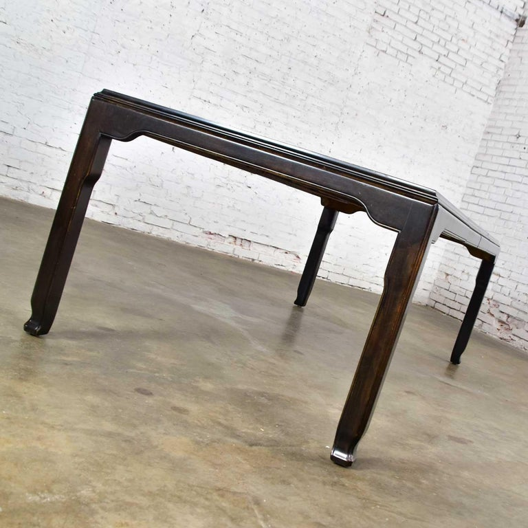 Century Chinoiserie Hollywood Regency Chin Hua Dining Table by Raymond K. Sobota For Sale 1