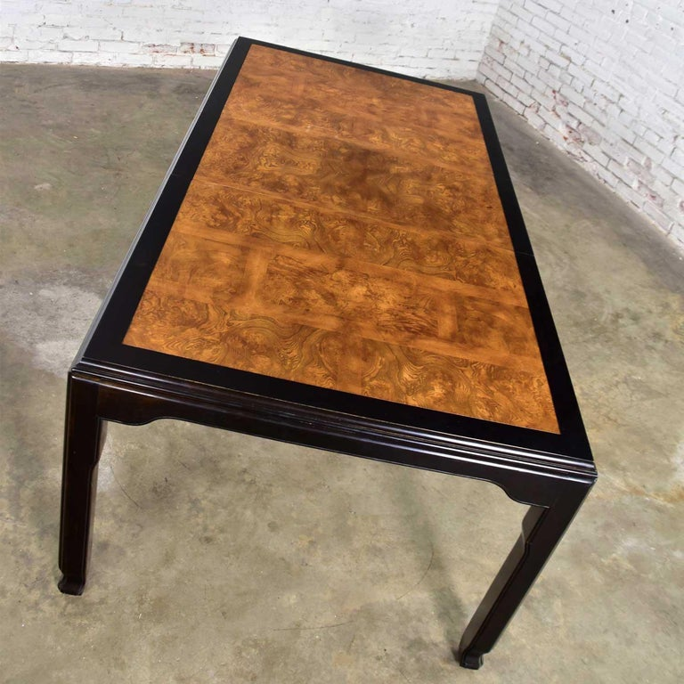 Century Chinoiserie Hollywood Regency Chin Hua Dining Table by Raymond K. Sobota For Sale 2