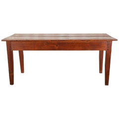 Country French Pine Farmhouse Dining Table or Console