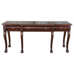 Century Furniture Chippendale Style Mahogany Paw Foot Sideboard Buffet Console