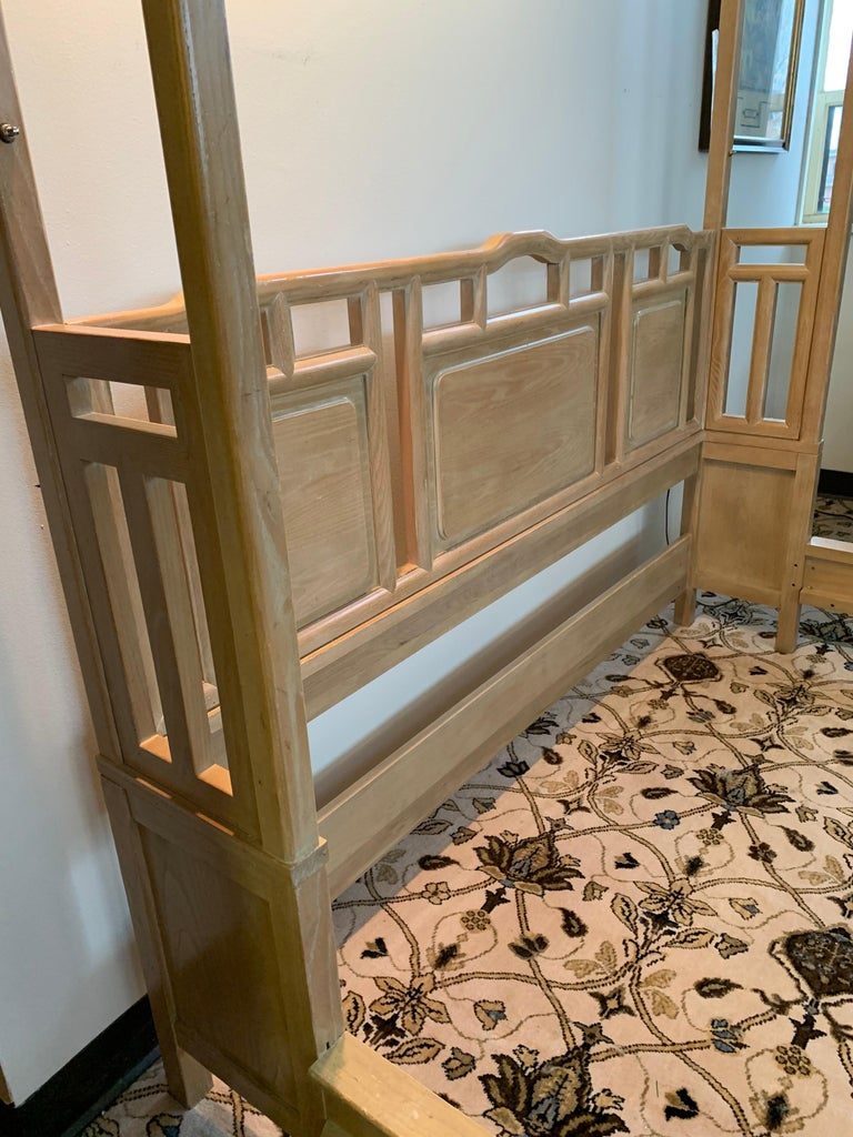 Birch Century Furniture Company Ray Sabota Designed Illuminated Alcove Queen Size Bed  For Sale