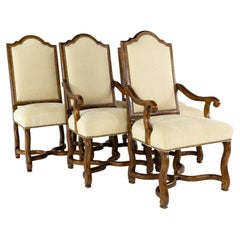 Century Furniture Contemporary Walnut Dining Chairs, Set of 6