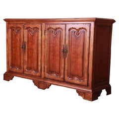Century Furniture French Provincial Walnut Sideboard Credenza or Bar Cabinet