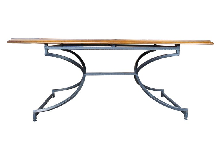 Century Furniture Giotto work table walnut finish iron base dining console hall  Century Giotto work table Finish walnut, 58H-751 (As seen on page 3 of their catalog, see 2nd photo)  This table will capture your soul with its stunning