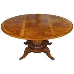 Century Furniture Maple Norfolk Round Pedestal Dining Table 53-307B